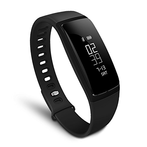 Smart Fitness Activity Band Heart Rate Blood Pressure Calorie Step Distance Counter Sleep Quality Recorder MSG Call Push USB Charger Sedentary Remind Smart Sports Bracelet IPX7