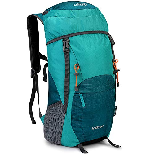 G4Free 40L Lightweight Travel Backpack Foldable Packable Hiking Daypack(Light Blue)