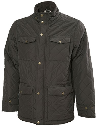 VEDONEIRE Mens GREEN Quilted Jacket (3038) padded coat vest quilt (M (chest 38-40 inches))