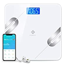 Etekcity Smart Bluetooth Body Fat Scale - Wireless Digital Bathroom Weight Scale, Body Tape Measure Included, 12 Essentials Body Composition Analyzer with App, 400lb(180kg)