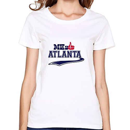 Gusta Tee Shirts - Women ME GUSTA ATLANTA Tshirts,White Tshirt By HGiorgis L White