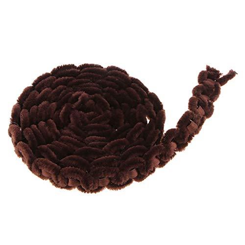 SM SunniMix 2 Yards 20mm Fashion Artificial Velvet Lace Ribbon Jacquard Ribbon Knit Ribbon Trim DIY Sewing Coustume Clothes Bag Accessories - Coffee