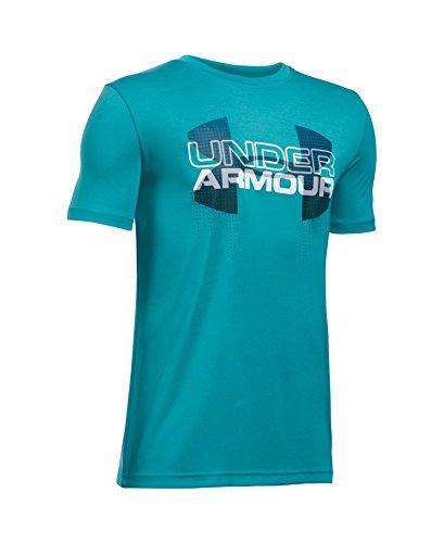 Under Armour Boys' Tech Big Logo Hybrid T-Shirt, Pacific (478), Youth Large