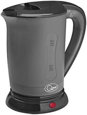 Quest 0.5 Litre Compact 600W Dual Voltage 110V/240V Travel Kettle With 2 Cups