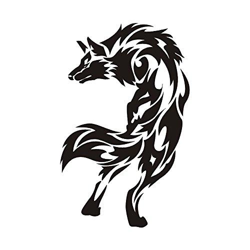 야생의 늑대/《우루후모치후》의 오토바이용 스티커,오토바이 용품,오토바이 상품(검정/8cm*12.5cm)