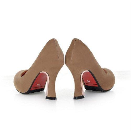 Marque Nouvelle Mode Nubuck Femmes Pompes À Talons Hauts Chaussures Multicolor Gris