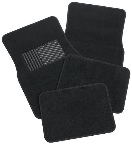 Rubber Queen 70541 Carpeted 4 Piece Mat With Vinyl Heel Pad Black (Black Car Floor Mats compare prices)
