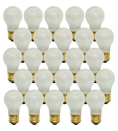 Bulb 130v A15 Light (Royal Designs Long Life Appliance and Utility Light Bulb 15-Watt Frosted A-15 130V 2500 Life Hours (25-Pack) (LB-5012-25))