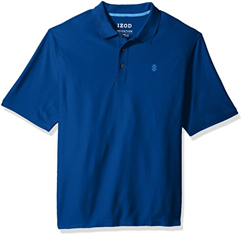 IZOD Men's Big Advantage Performance Solid Polo, True Blue, 3X-Large Tall