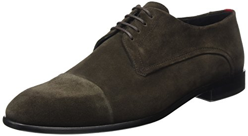 BOSS Uomo Marrone Brown Dark Stringate 01 sdct GREEN derb 10201359 Dressapp Scarpe 8zq8xr