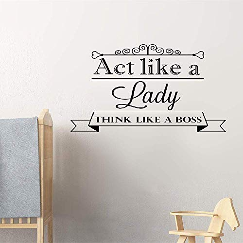 Dozili Vinyl Wall Decal Sticker Wall Art Act Like A Lady Think Like A Boss for Girls Room Office Hose Home Decoration Gift Idea 15