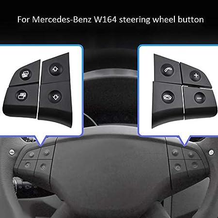 W164 GL ML 2006-2009 Gris Shumo Bot/óN de Volante de Audio Multifunci/óN de Coche para Mercedes