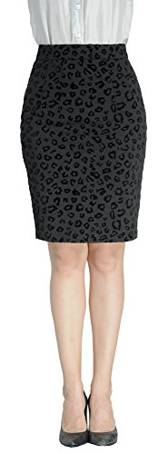 (Marycrafts Women's Work Office Business Pencil Skirt S Black)