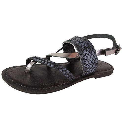 (Freebird by Steven Womens Sea Braided Leather Sandal Shoes, Black Multi, US 10)