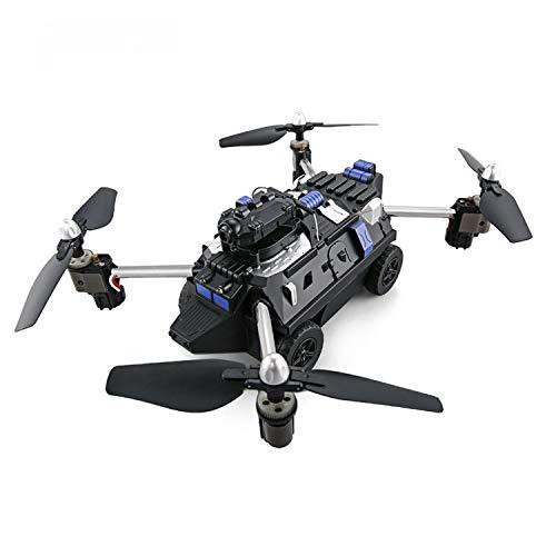 ドローン HDカメラ付き 飛天戦車 陸空二つモード 高度維持 WI-FI FPV 陸上モード 空中モード 安定性抜群 ホバリング 2.4GHz 4CH H40WH