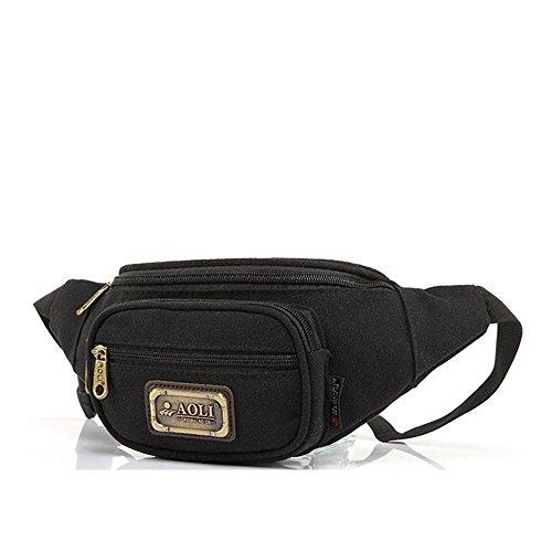 BUSL Senderismo bolsas de cintura deportes de los hombres bolsillos del teléfono bolsillo de la lona de camping al aire libre Mini Sra. . B C