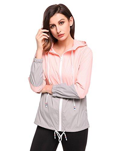 Hufcor para Impermeable XL Abrigo Rosa Mujer 77wqYS
