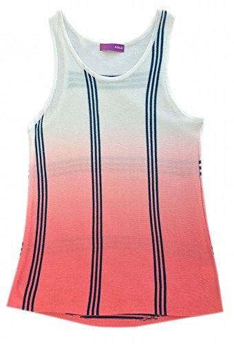 Price comparison product image Aqua Girls Ivory/flam Ombre Stripe Tank Size M