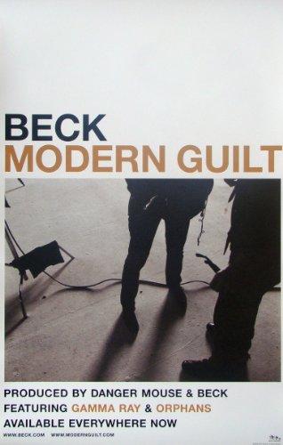 Beck - Modern Guilt - Poster - Rare - New - Danger Mouse - Cat Power - Beck David Campbell - Hansen - Gamma Ray - Chemtrails - Youthless