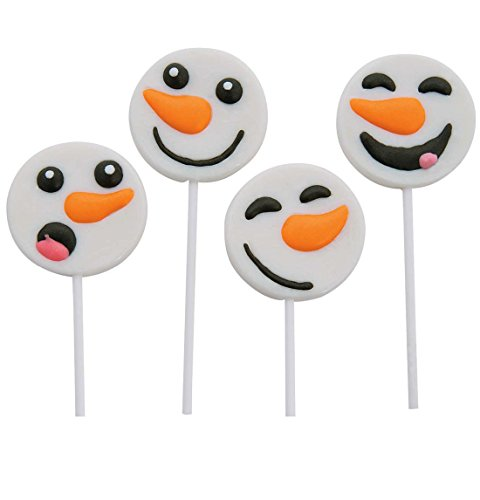 Frosted Snowman Face Lollipops - Great For Party Favor, Stocking Stuffer 1 Dz.