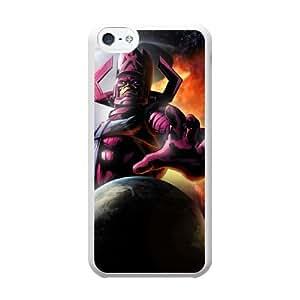 galactus P2N9BG8P Caso funda iPhone 5c Caso funda del teléfono celular blanco