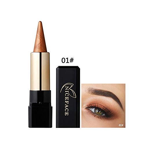 Metallic Shimmer Eyeshadow Stick Pen Makeup Waterproof Smoky Eye Shadow Cream Red Nude Earth Pigment -