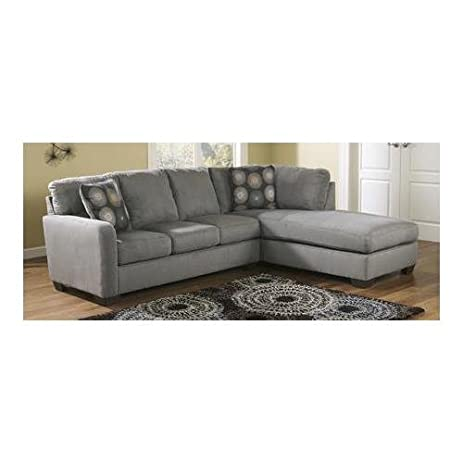 Ashley 70200-66-17 Zella Sectional Sofa with Left Arm Facing Sofa and Right  sc 1 st  Amazon.com : ashley cowan sectional - Sectionals, Sofas & Couches