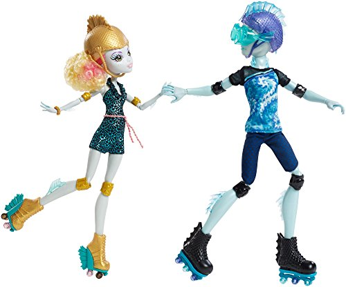 Monster High Lagoona Blue and Gil Weber Wheel Love, Doll 2-Pack ()