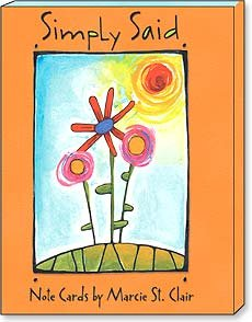 Boxed Greeted Note Cards 3 each of 4 designs:Simply Said by Marcie St. Clair from Leanin' Tree