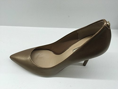 SCARPE DONNA DECOLLETE PUNTA GUESS TC 100 PELLE LAM BROWN MOD PLASMIA E16GU14