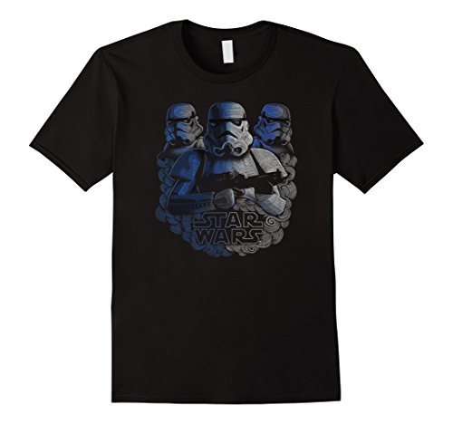Mens Star Wars Stormtroopers Pointillism Swirl Graphic T-Shirt XL Black