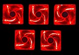 Apevia AF58L-RD 80mm 4pin Silent Red LED Case Fan - Connect to Power Supply (5-pk)