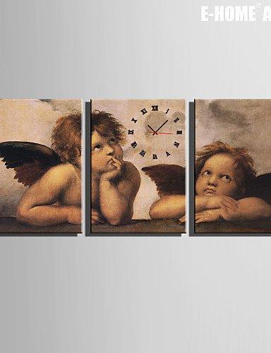 XINHAOK Rectangular Moderno/Contemporáneo Reloj de pared , Otros Lienzo35 x 50cm(14inchx20inch)x3pcs/ 40 x...