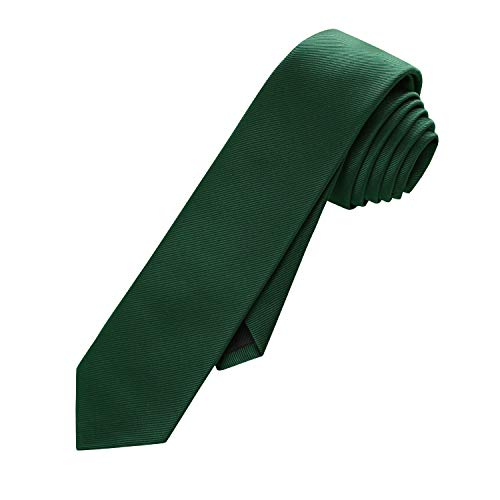 (Anrinwei Solid Color Men's Regular Tie Fashion Satin Necktie (2.4''Width, Emerald))