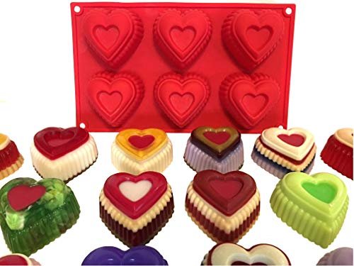 Hearts Silicone Mold for Baking, Arts and Crafts, Candle and Soap Making