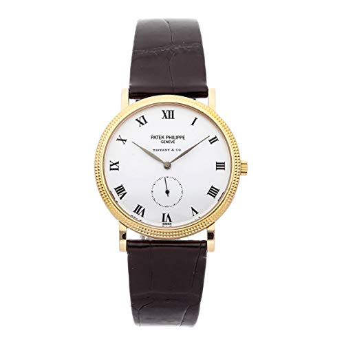 Patek Philippe Calatrava Mechanical (Hand-Winding) White Dial Mens Watch 3919J (Certified - Calatrava Watch Philippe Mechanical Patek