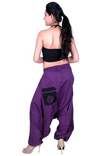 Sarjana Handicrafts - Pantalón - para mujer morado