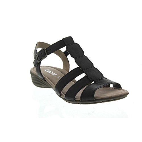 Gabor 84.558.57 - Sandalias de Vestir de Piel Para Mujer negro