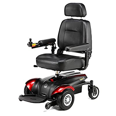 """Merits Health Products - POWER PACKAGE ($500 VALUE) - Vision CF - Front Wheel Drive Power Chair - 18""""W x 16""""D - Red"""