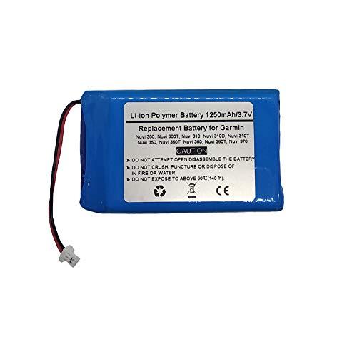 3.7V/1250mAh Replace GPS Navigator Battery for Garmin Nuvi 300, Nuvi 300T, Nuvi 310, Nuvi 310D, Nuvi 310T, Nuvi 350, Nuvi 350T, Nuvi 360, Nuvi 360T, Nuvi 370,(P/N GARMIN 010-00538-78,361-00019-02,361-