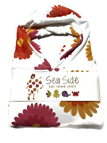 Kid's Hooded Poncho Towel Cover-up, Flowers ()