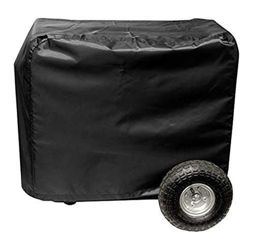 Generator Side Cover (Wakaka Outdoor Generator Cover Water Proof / UV Resistant Generator Cover / Tent With Velcro (black-32in))