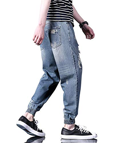 Laterale Fori Moda E Design Ragazzo Con Denim Fit Slim Colour Pantaloni Sportivo Ray Chern Alla Leisure Tasca H76fnFqx