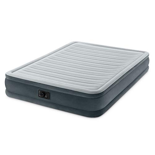 Intex Comfort Plush Mid Rise Dura-Beam Airbed with Built-in Electric Pump, Bed Height 13