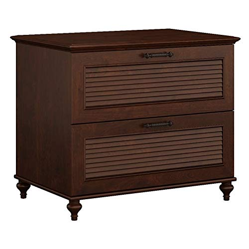 kathy ireland Home by Bush Furniture Volcano Dusk Lateral File Cabinet in Coastal Cherry