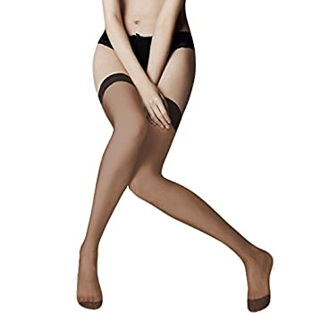 Vivien Women's Smooth and Comfortable High Support Reinforced Toe THIGH HIGH Sheer Hosiery Stocking -BEIGE
