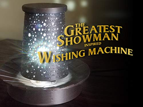 The Greatest Showman Wishing Machine - Movie Inspired Spinning Illuminated Lamp by Russ Designs