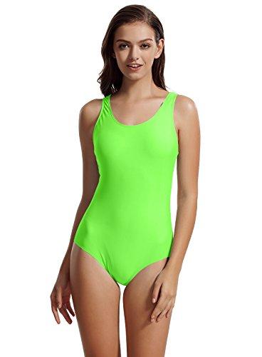 zeraca Women's Sport Racerback One Piece Swimsuit Swimwear (L14, - Fabric Resistant Chlorine