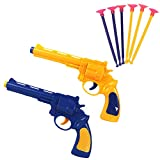 Xelue FF 2 Pack Safe Toy Gun Revolver with Soft Suction Cup Dart
