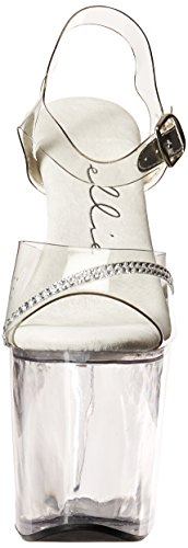 Ellie Shoes Womens 821-jewel 8 Hak Sandal Clear